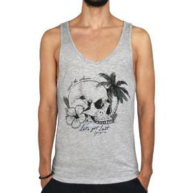 db83f369d059 Ανδρικό αμάνικο μπλουζάκι LET S GET LOST - Γκρί Μελανζέ
