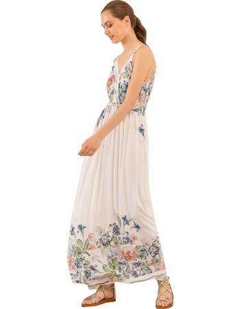Μάξι φόρεμα με λεπτομέρεια από δαντέλα - Λευκό 56a6de3b2c1