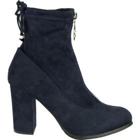Γυναικεία μπλε σουέντ μποτάκια κάλτσα κρίκος φερμουάρ C7179K 6b512b04bb2