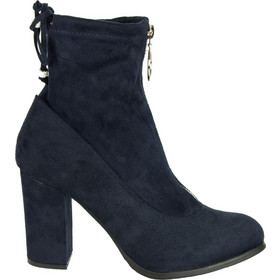 d0e5f9c09f Γυναικεία μπλε σουέντ μποτάκια κάλτσα κρίκος φερμουάρ C7179K