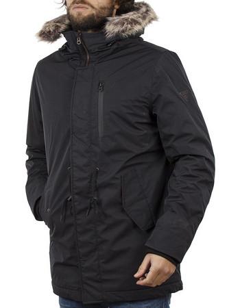 Ανδρικό Μακρύ Μπουφάν Parka Jacket με Κουκούλα FUNKY BUDDHA FBM021-01218  Μαύρο 0ebfbe5d967