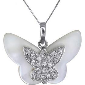 Λευκόχρυσο κολιέ με πεταλούδα 14K 002385 002385 Χρυσός 14 Καράτια 21a7cc78cae