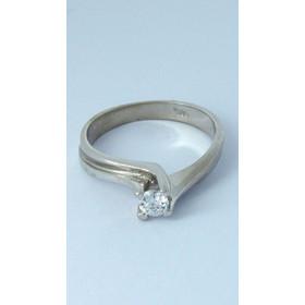 Λευκόχρυσο δαχτυλίδι μονόπετρο φλόγα με ζιργκόν 3.50mm 9f23d21c1ff