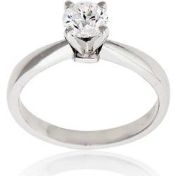 Μονόπετρο Δαχτυλίδι Λευκό Χρυσό 18 Καρατίων Κ18 με Διαμάντι Μπριγιάν 031618 92edae8f119