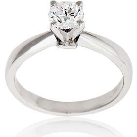 Μονόπετρο Δαχτυλίδι Λευκό Χρυσό 18 Καρατίων Κ18 με Διαμάντι Μπριγιάν 031618 be1f255679b