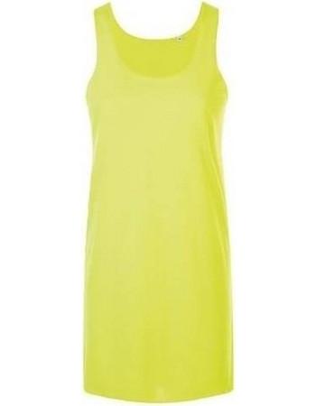 Sol s Coctail 01701 Γυναικείο φόρεμα 100% πολυεστερικό - ζερσευ 130γρ -  NEON YELLOW - 306 675524e36a7