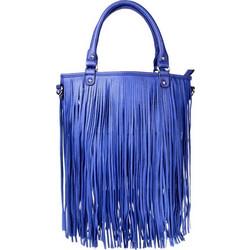 Γυναικεία τσάντα ώμου με κρόσια - Μπλε - OEM 30979 017e116ace5