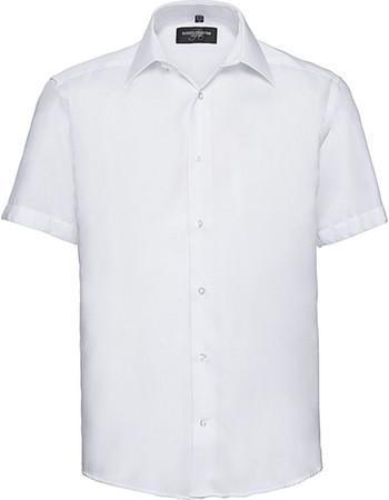 95b1958c42a3 Ανδρικό κοντομάνικο πουκάμισο Non-iron Russell R-959M-0 - White