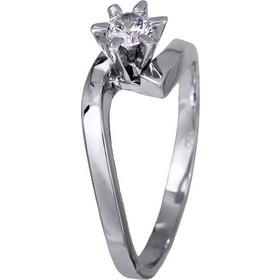 Μονόπετρο δαχτυλίδι αρραβώνων λευκόχρυσο Κ14 020695 020695 Χρυσός 14 Καράτια e51e22e130c
