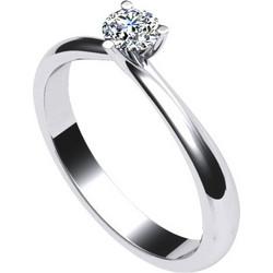 Γυναικείο μονόπετρο δαχτυλίδι σε λευκό χρυσό Κ18 με μπριγιάν aa9b9375dfe
