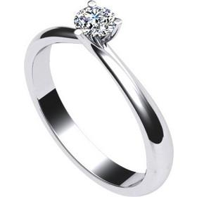 Γυναικείο μονόπετρο δαχτυλίδι σε λευκό χρυσό Κ18 με μπριγιάν 9f212f4afca