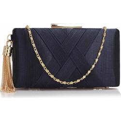 sophisticated golden chain clutch σε μπλε navy d89b50313dd