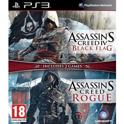 Assassin's Creed Double Pack (Assassin's Creed IV Black Flag & Assassin's Creed Rogue) - PS3