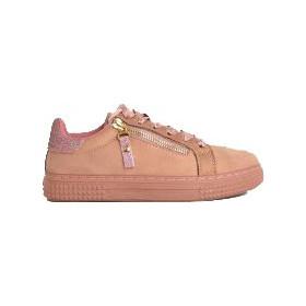 Γυναικεία Sneakers Suede με σατέν κορδόνια ροζ AB1R 35f56506363