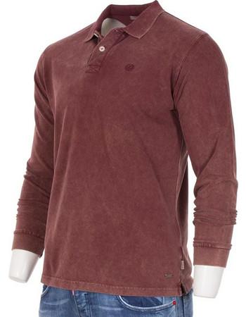 Ανδρικό Μακρυμάνικη Μπλούζα με Γιακά SANTANA SW16-2-28 Μπορντό 7e811ff4d4b