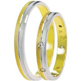 Βέρες Γάμου Δίχρωμες Χρυσές Στεργιάδης SAT02 Κ9 Κ14 ή Κ18 2.50 χιλ 90cac5e1da9
