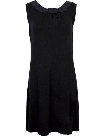 Luna Satinet μαύρο φόρεμα 83059 24569387ce0