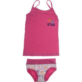 781e323b43e Σετ εσωρούχων παιδικό βαμβακερό σε φούξια Emy