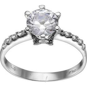 Λευκόχρυσο δαχτυλίδι μονόπετρο 14καρατίων με πλα x3CAνες πέτρες D113BAR8.5 9e44f2b95db