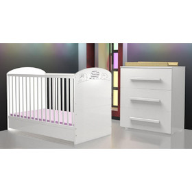 7e91b0a755c Σετ Προεφηβικό Κρεβάτι και Συρταριέρα FAKTUM LEXI χρώμα λευκό