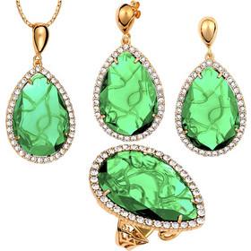 Ασημένιο σέτ 925 με Πράσινες πέτρες SWAROVSKI AS-58667GG1 af8e56c7413