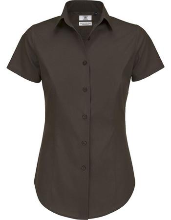 Κοντομάνικο πουκάμισο B   C Black Tie SSL Women - Coffee Bean 89617d0afca