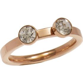 Δαχτυλίδι ρόζ χρυσό ατσάλι με κρύσταλλα swarovski e94276ed44a