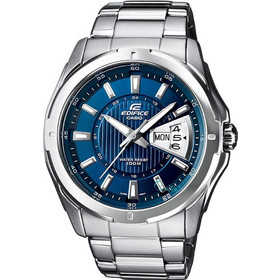 Casio Edifice Stainless Steel Bracelet Blue Dial EF-129D-2AVEF