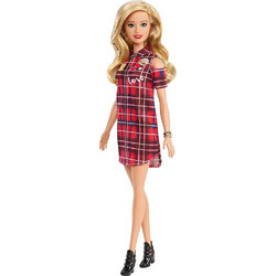 Mattel Barbie Fashionistas Red Square Dress f887de7e5c0