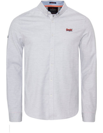 SUPERDRY PREMIUM BUTTON DOWN EMBROIDERED ΠΟΥΚΑΜΙΣΟ ΑΝΔΡIKO M40103AT-E3V (E3V  ROYAL OXFORD GREY 43de0ab7fe0