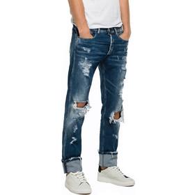 4007c3947274 Ανδρικά Παντελόνια Replay Jeans Grover Regular Slim Fit Mens Pants Μπλέ  MA972.000.419.938