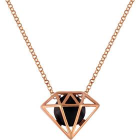 Κολιέ διαμάντι σε ασήμι 925 με μαύρη πέτρα SWAROVSKI AK-Z5444BR1 aba99b633e9
