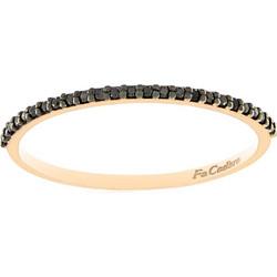 Δαχτυλίδι Facadoro ολόβερο ροζ χρυσό 18 καράτια με μαύρα διαμάντια 0.10ct a73830fce35