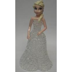 a57d3a01c77b Διακοσμητική Led Μινιατούρα Πριγκίπισσα Έλσα Με Λευκό Φόρεμα