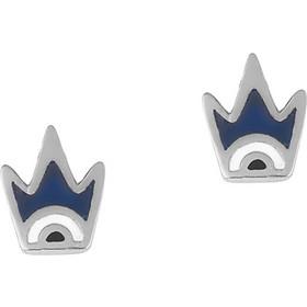 Ασημένια σκουλαρίκια 925 κορώνες με μπλέ σμάλτο SK-E3406BLSL1 37a3d2bb730