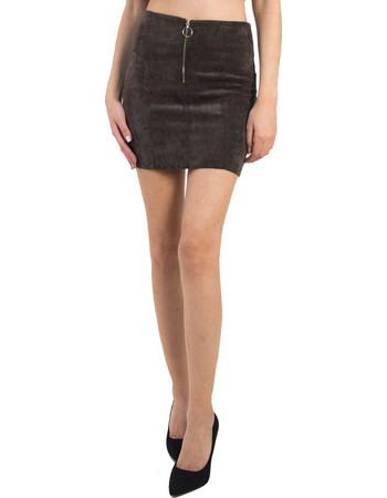 Γυναικεία κοτλέ μίνι φούστα Cocktail καφέ 013904044D bcd4c951c7b