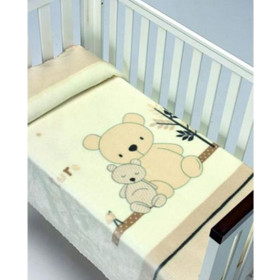 acb606dc933 Κουβέρτα bebe κρεβατιού Ισπανική βελουτέ MORA Piccola 794 beige 110x140cm