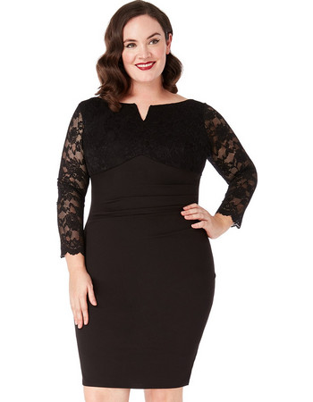 plus size chic lbd lace V 62cf8803ed5