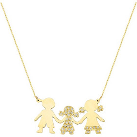 Κολιέ 14Κ Χρυσό Οικογένεια με Ζιρκόν - 01-13866 57616e4ad1a