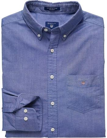 Gant ανδρικό πουκάμισο Oxford σε κανονική γραμμή - 3046000 - Μπλε e38ada59e2a