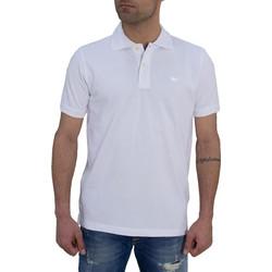 Ανδρική Polo μπλούζα Green Wood λευκή μονόχρωμη 107901871W 01a7da1789a