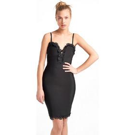 3ca7fa0d9a0c Midi φόρεμα επίδεσμος με κεντητά λουλούδια - Μαύρο