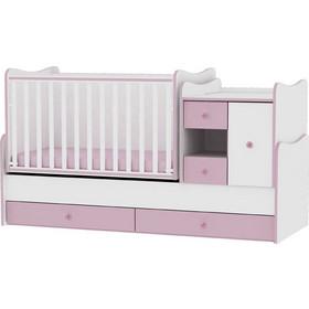 f059912358c Κρεβάτι Minimax Μετατρεπόμενο Πολυμορφικό White/Pink Lorelli 10150500020A  (ΔΩΡΟ στρώμα Top Exclusive Lorelli και