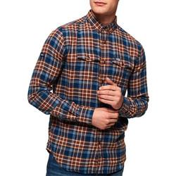Superdry - M40002AR UV6 - Winter Washbasket Shirt - Enfiled Blue Check -  Πουκαμισο 3e0a51364fa