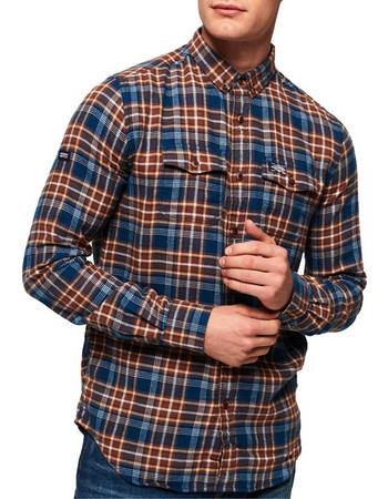Superdry - M40002AR UV6 - Winter Washbasket Shirt - Enfiled Blue Check -  Πουκαμισο 9d96a6455db