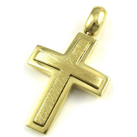 ΣΤΑΥΡΟΣ Κίτρινος Χρυσός 18Κ crs183832vts818a 2c3783dad92