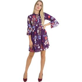 bf3d2747620d Γυναικείο μωβ κλος φόρεμα βολάν μανίκια Lipsy 2180601F
