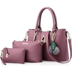 1083269101 NICOLE DORIS 3 Τσάντες Σετ Τσάντα Ώμου Τσάντα χειρός και Πορτοφόλι ND-KS001  Pink