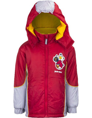 24f5f79926b Παιδικό Μπουφάν με Κουκούλα Χρώματος Κόκκινο Angry Birds Disney HO1217