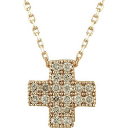 Σταυρός Βάπτισης Κ18 Ροζ Χρυσός Γυναικείος με Διαμάντια Brilliant C7485 e08b60107d8